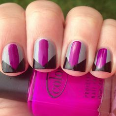 Mani Remix #1- Color Blocked Nails (And How To Take Good Nail Pictures)