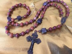 GeMSToNe RoSaRy/ Pardon Crucifix/ Immaculate by Ivanwerks on Etsy