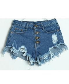 Shorts jeans curto rasgado
