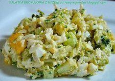 Składniki: różyczki brokuł torebka ryżu szklanka kukurydzy konserwowej 2 jajka zielony ogórek szynka (opcjo...