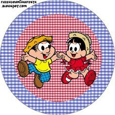 Chico Bento e Rosinha - Kit Completo com molduras para convites, rótulos para guloseimas, lembrancinhas e imagens!