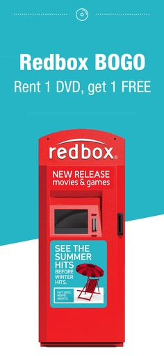 12 best redbox codes free movie rentals images on pinterest rent 1 regular dvd get 1 free right now redbox is offering a rent 1 regular dvd get 1 free deal just add two movies to your cart and apply the promo code fandeluxe Images