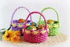 Crochet Baskets pattern