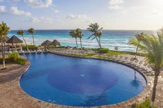 Paradisus Cancun has four lagoon-inspired pools straight out of a hidden paradise #honeymoonspots #vacations