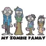 My Zombie Family - Family Car Stickers