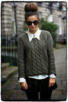 Swetry do pracy - gotowe stylizacje z Pinteresta