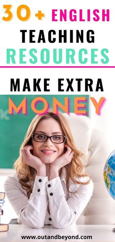 Increase your chances of getting paid using 30+ english teaching resources to help you make extra money with high paying side hustles! Make extra money while working from home! English Teaching Resources, Teaching English Online, Teaching Tips, Make Easy Money, Make More Money, Extra Money, Online Teaching Jobs, Online Jobs, Better English