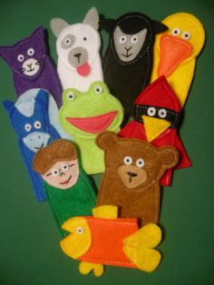 Finger Puppets: Brown Bear Brown Bear What Do You See? Allow children to explore the storyline on their own, with peers or listen to the teacher retell the story. Felt. Focus: Retelling the story.