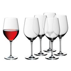 Set 6 pahare vin rosu Easy Plus, WMF Table Accessories, Kitchen Accessories, Buy Glasses, Wmf, Easy, Carafe, Red Wine, Wine Glass, Alcoholic Drinks
