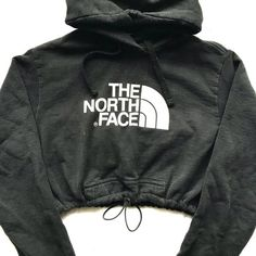 1519296d4e359 Vintage North face crop hoody blk ( 48) ❤ liked on Polyvore featuring the  north