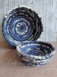 Summer No-Sew Fabric Bowl