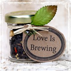 Love is Brewing Tea Wedding Favors 20 by sparkleandposy on Etsy, Could DIY for less!