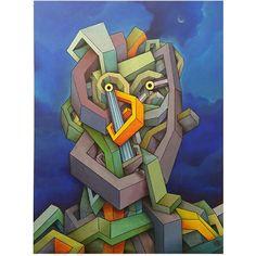 Tomas Hache Viento de la noche. Mixed media on canvas. 80cm x 60cm.