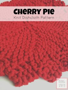 FREE, pretty, quick-to-knit dishcloth pattern from Being Spiffy