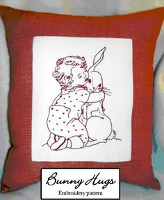 Bunny Hugs PDF File Hand embroidery pattern by needleNme, $3.00
