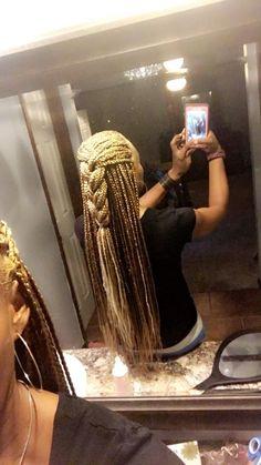 Hair Inspo, Hair Inspiration, Blonde Braids, Birthday Hair, Hair Reference, African Braids, African American Hairstyles, Box Braids Hairstyles, Hair A