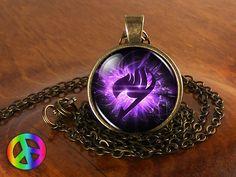 Handmade Fashion Jewelry Rainbow Wing Symbol Natsu Dragneel Fairy Tail Guild Marks Necklace Pendant Cosplay Charm Art