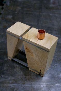 BLOCCO Due decorative wood vase by FunkTastik on Etsy