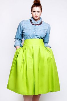 Spring Must-Haves For Cool, Curvy Girls #refinery29  http://www.refinery29.com/plus-size-fashion#slide4