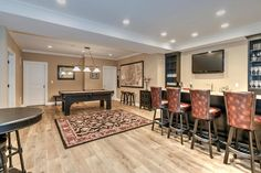 Distinctive Domain, New Jersey Custom Home Builders Custom Home Builders, Custom Homes, Basement Bar Designs, Basement Ideas, New Construction, Living Spaces, Home Improvement, New Homes, Luxury