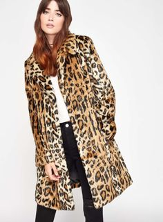 Long and tailored, short and padded or faux fur leopard, Frankie Graddon picks the best winter coats on the high street Miss Selfridge, White Faux Fur Coat, Best Winter Coats, Leopard Print Coat, Coat Sale, Casual Outfits, Jackets, Clothes, Fake Fur
