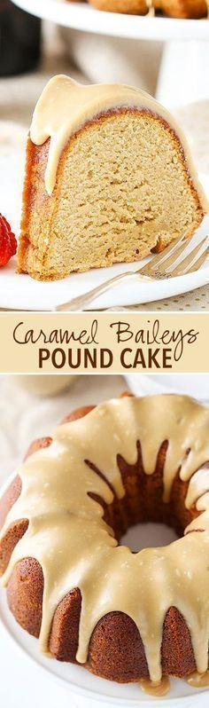 Baileys Pound Cake Caramel Baileys Pound Cake - soft, moist and full of Baileys and caramel flavor! I'm in love!Caramel Baileys Pound Cake - soft, moist and full of Baileys and caramel flavor! I'm in love! Brownie Desserts, Mini Desserts, No Bake Desserts, Just Desserts, Delicious Desserts, Desserts Caramel, Delicious Cookies, Baking Desserts, Sweet Desserts