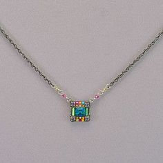 (OOS) Firefly Square Mosaic Necklace - Multicolor