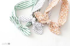 DIY knotted headband tutorial for baby girls