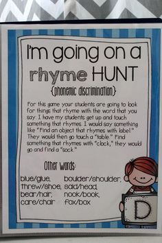 Me Sound It Out- {small group games that help with phonemic awareness} fantastic RTI resource! Rhyming Activities, Language Activities, School Rhymes, Kindergarten Literacy, Literacy Games, Phonics Games, Jolly Phonics, Phonemic Awareness Activities, Kindergarten Language Arts