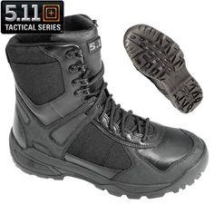 Demonia RIOT-12 Black Leather Mens Combat Boots - Demonia Shoes ...