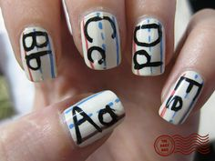 This elementary school mani is a great way to showcase your enthusiasm for back to school.