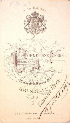 CORNÉLISSE HERGEL -1893 - Bruxelles (Delcampe.be)