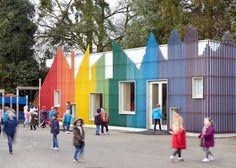 School dining hall recreates Fantastic Mr Fox's underground village