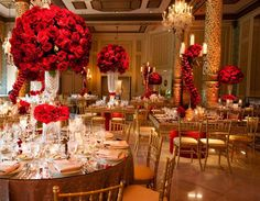 Beautiful Red And Gold Decor