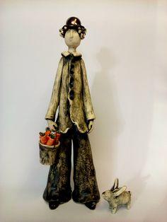The Carrot Man, ceramic sculpture, art sculpture, clay figurine, ceramic figurine, art ceramics