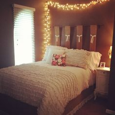 College room! Love the lights
