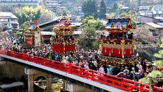 Takayama Matsuri, a traditional spring festival in Gifu, Japan.