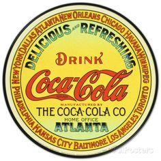 Coca-Cola Placa de lata