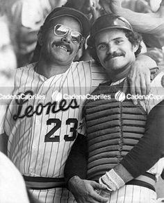 Los peloteros Luis Peñalver y Baudilio Díaz. Foto: Archivo Fotográfico/Cadena Capriles