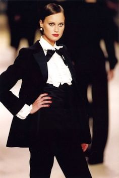 Yves Saint LaurentThe Le Smoking tux is one of the designer's most enduring pieces
