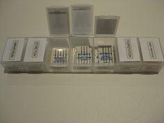 Use a pill organizer for machine needle organization.