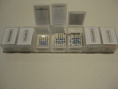Use a pill organizer for machine needle organization.