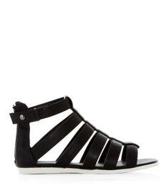 New Look - Black Contrast Sole Gladiator Sandals