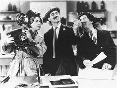 (Left to right) Harpo Marx, Groucho Marx, and Chico Marx in A Day at the Races