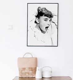 Audrey Hepburn poster. Vintage poster. Fashion poster por Byoliart