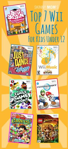 Top 7 Wii Games for Kids Under 12! These games are fun, appropriate, interactive, and some are educational! LOVE these!