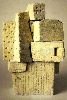 """Constantino Nivola """"Masculine Figure"""" 1958 concrete"""