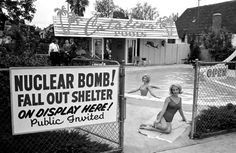 The Cold War:  Fallout Shelter Model Open for Showing....at Swimming Pool