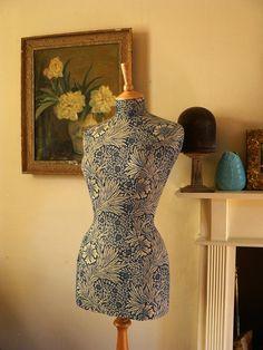 Home Decor Mannequin William Morris Arts & Crafts Dressform Bust - Mary