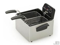 Double Basket Fryer Deep Dual Kitchen Dining Frier Bakeware Cookware Cook New | Why not skip the fast food and make your own healthier version right in your own kitchen with a Presto 12-Cup Dual Basket Deep Fryer? Enjoy the space-saving minimalistic chic design that lets you fry up foods that taste as good as the ones you love from you favorite restaurants.